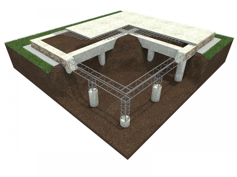 буронабивной фундамент с плитой