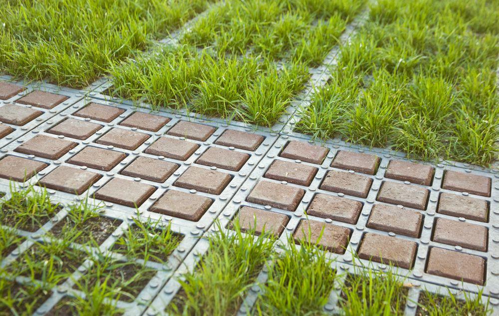 Георешетка залитая бетоном при входном контроле бетонной смеси под устройство полов необходимо