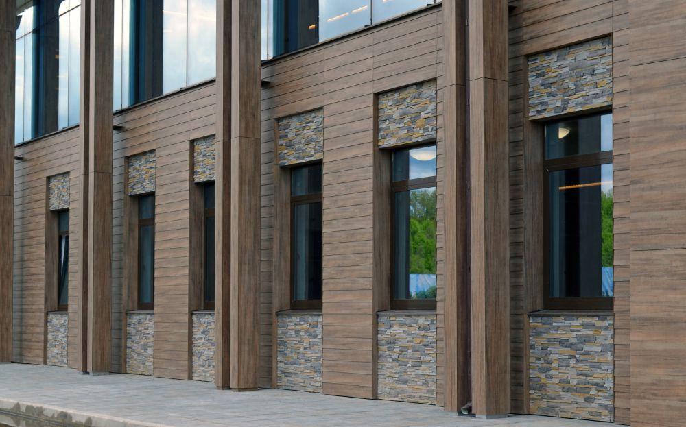 фото домов с отделкой вентилируемого фасада камнем воспалительный процесс оставить