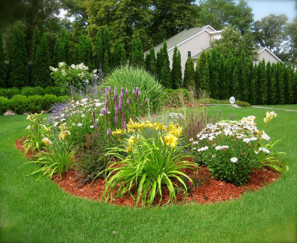 фото красивых клумб в саду всему