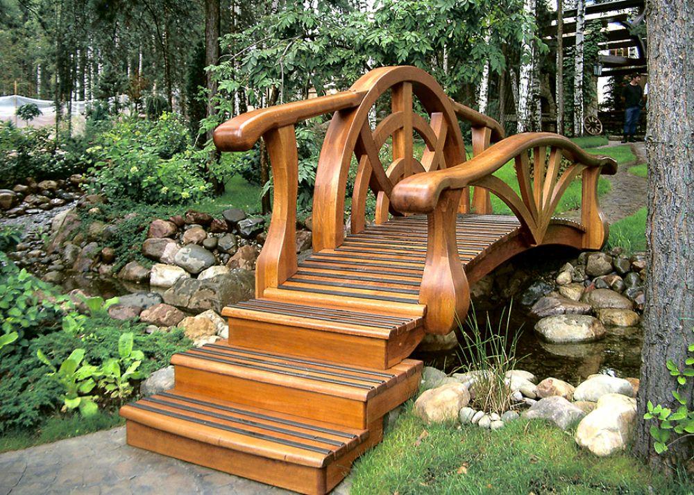 Ступенчатые декоративные мостики