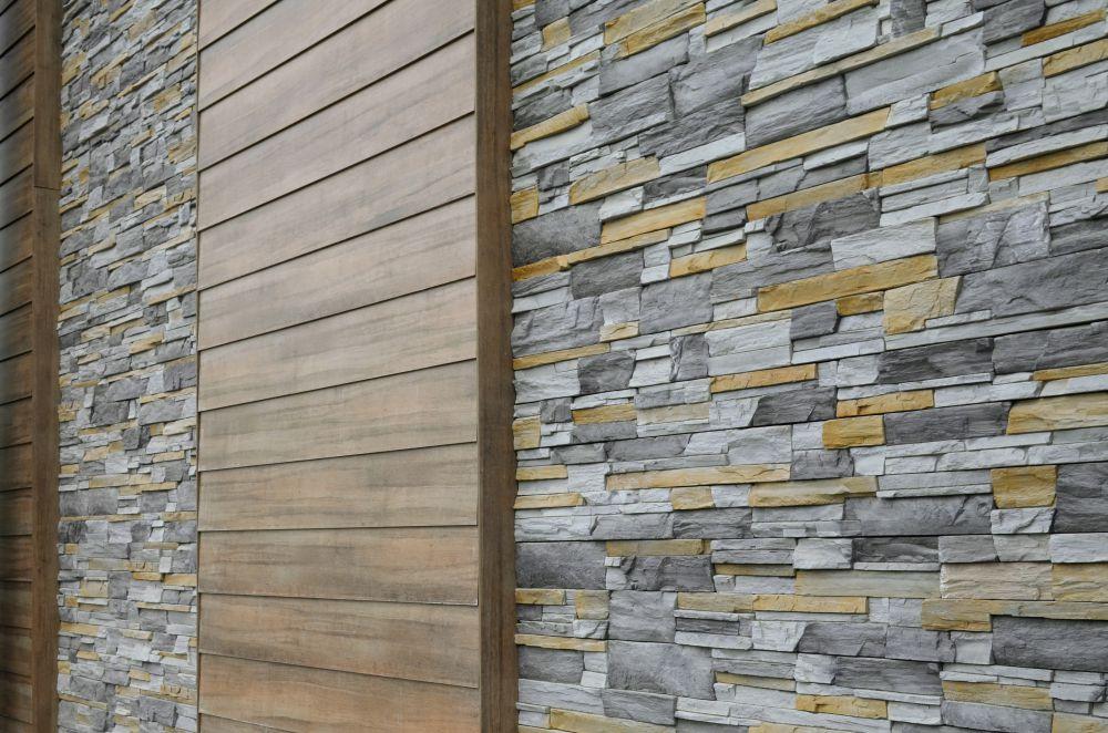фото домов с отделкой вентилируемого фасада камнем