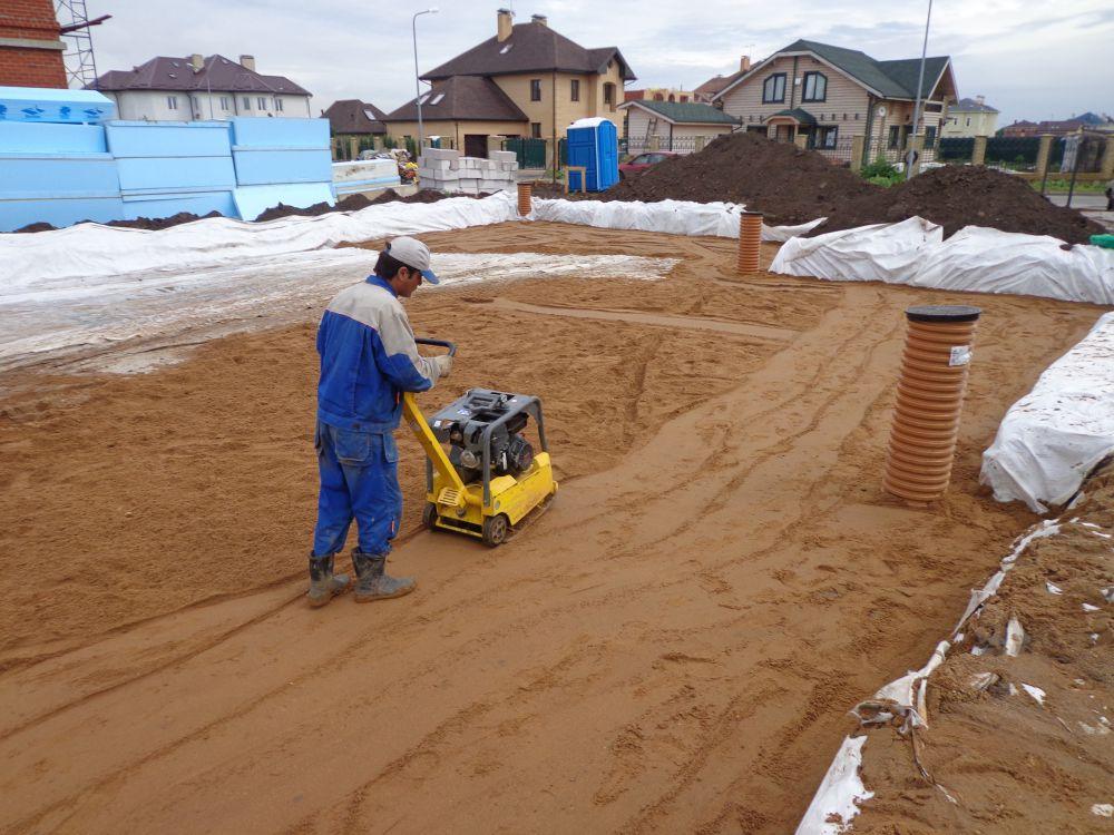 песок уплотнение