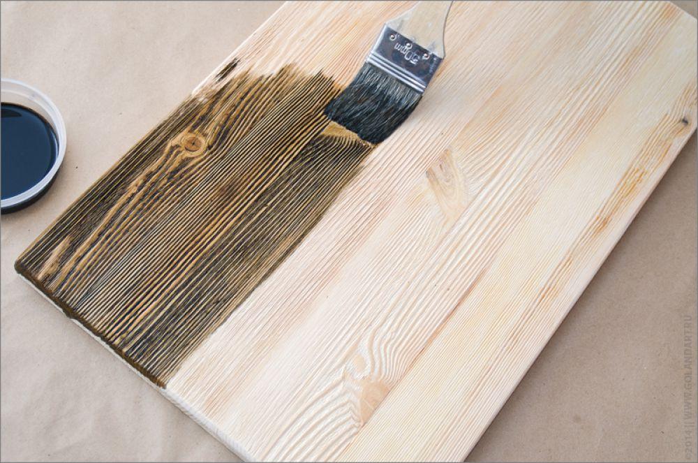 обработка дерева лаком и морилкой