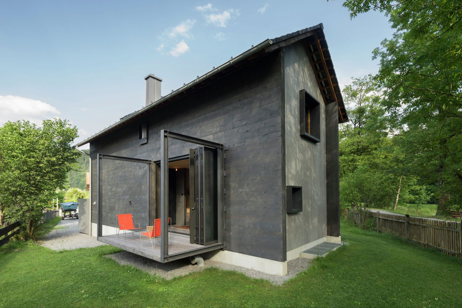 октябре позволяет авангардный дачный домик фото интерьер веранды