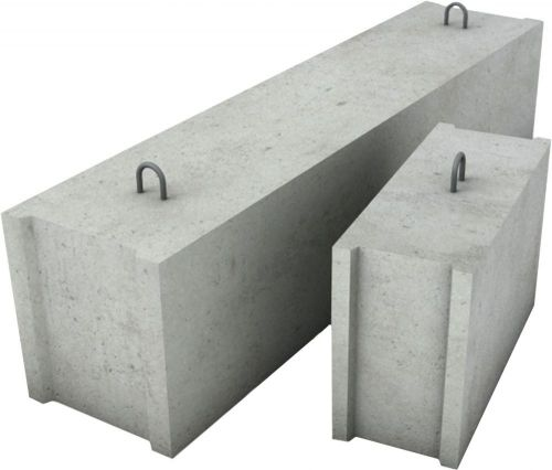 Бетонные блоки для фундамента: виды, классификация, размеры